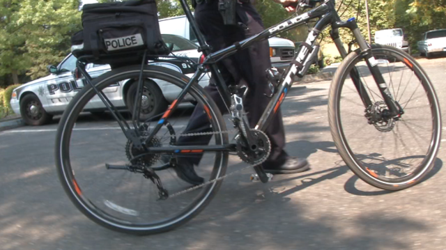 Downtown business donates new bike to police