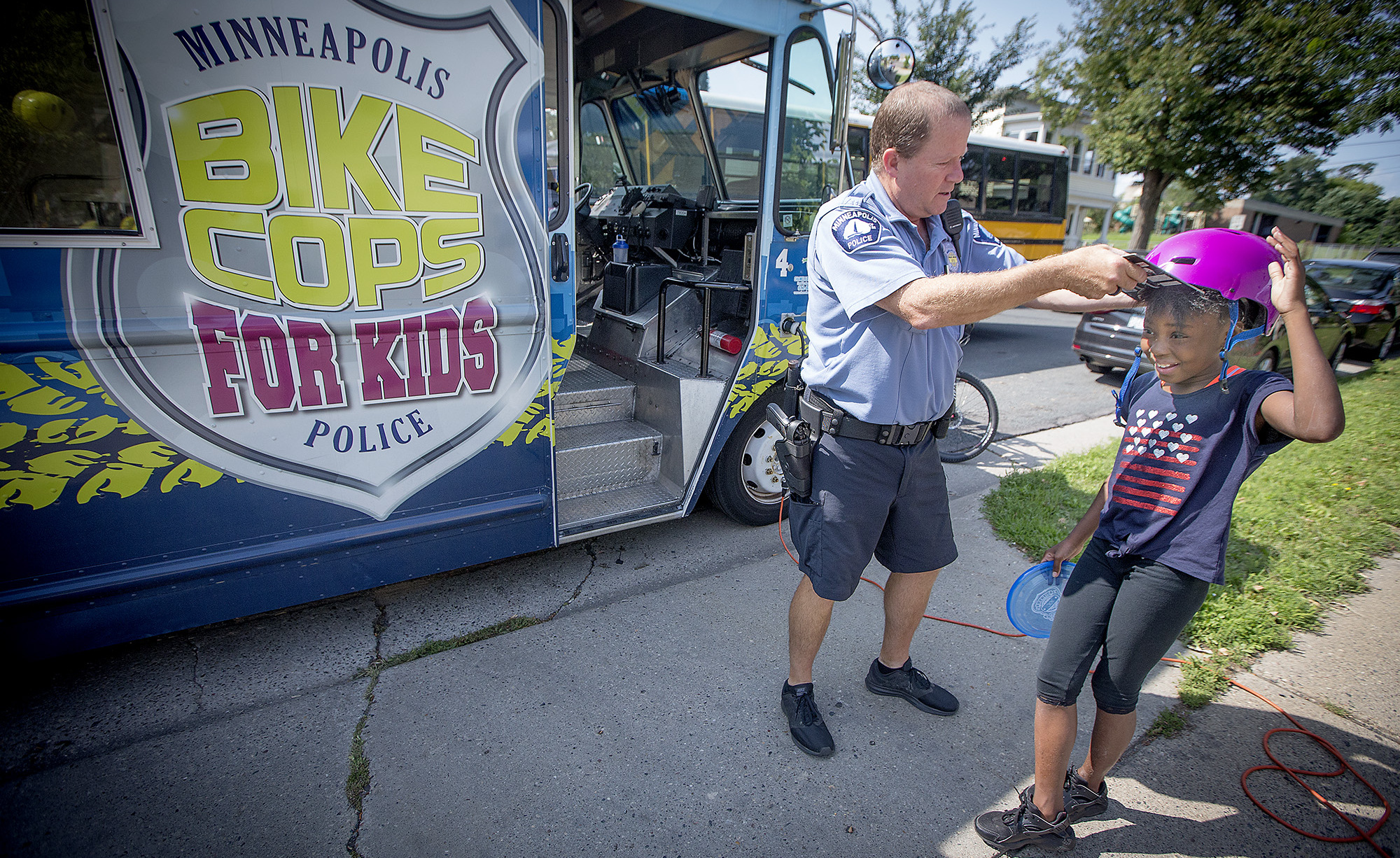 Eight years in, Bike Cops for Kids rolling strong in Minneapolis