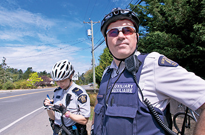 Patrolling the Saanich Peninsula by bike
