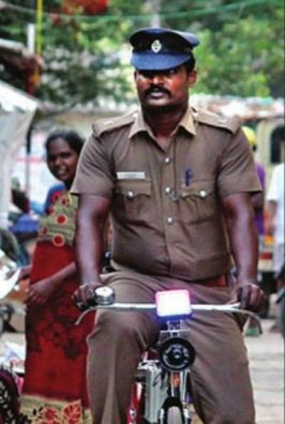 On the cycle is your friendly cop