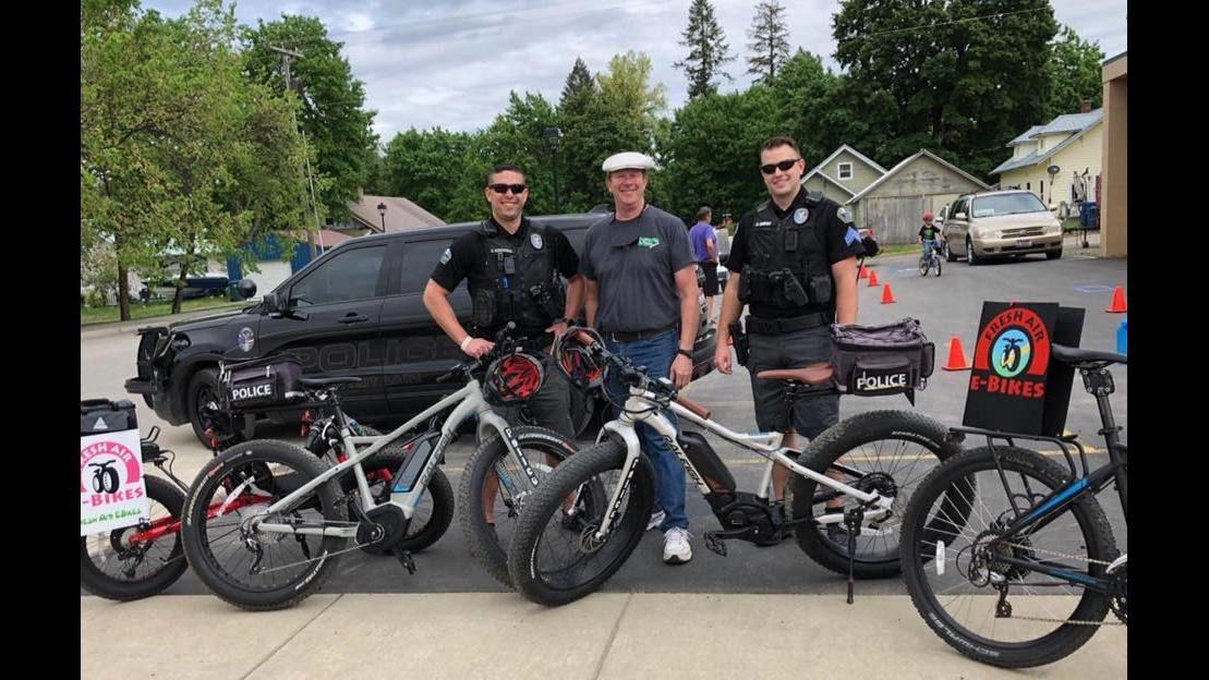 Spirit Lake Police use pedal power for patrols