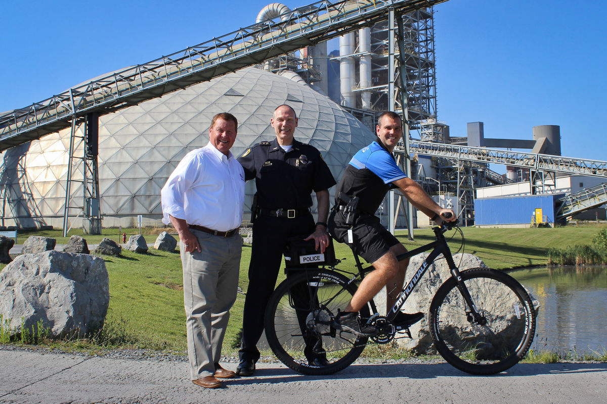Argos Cement Company donates bikes to Martinsburg Police Department Bike Patrol