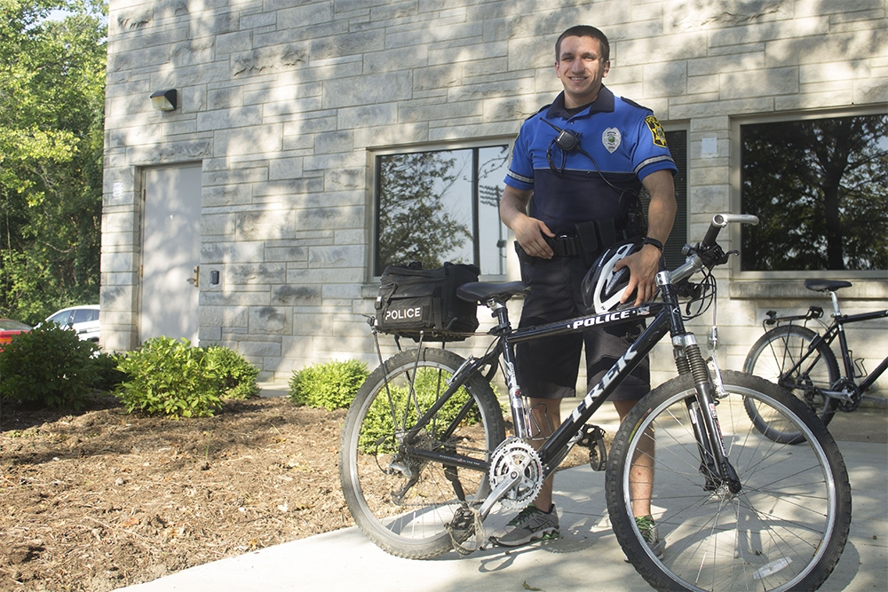 IUPD uses bike patrols