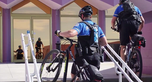 SPD officers partake in Police Mountain Bike training course