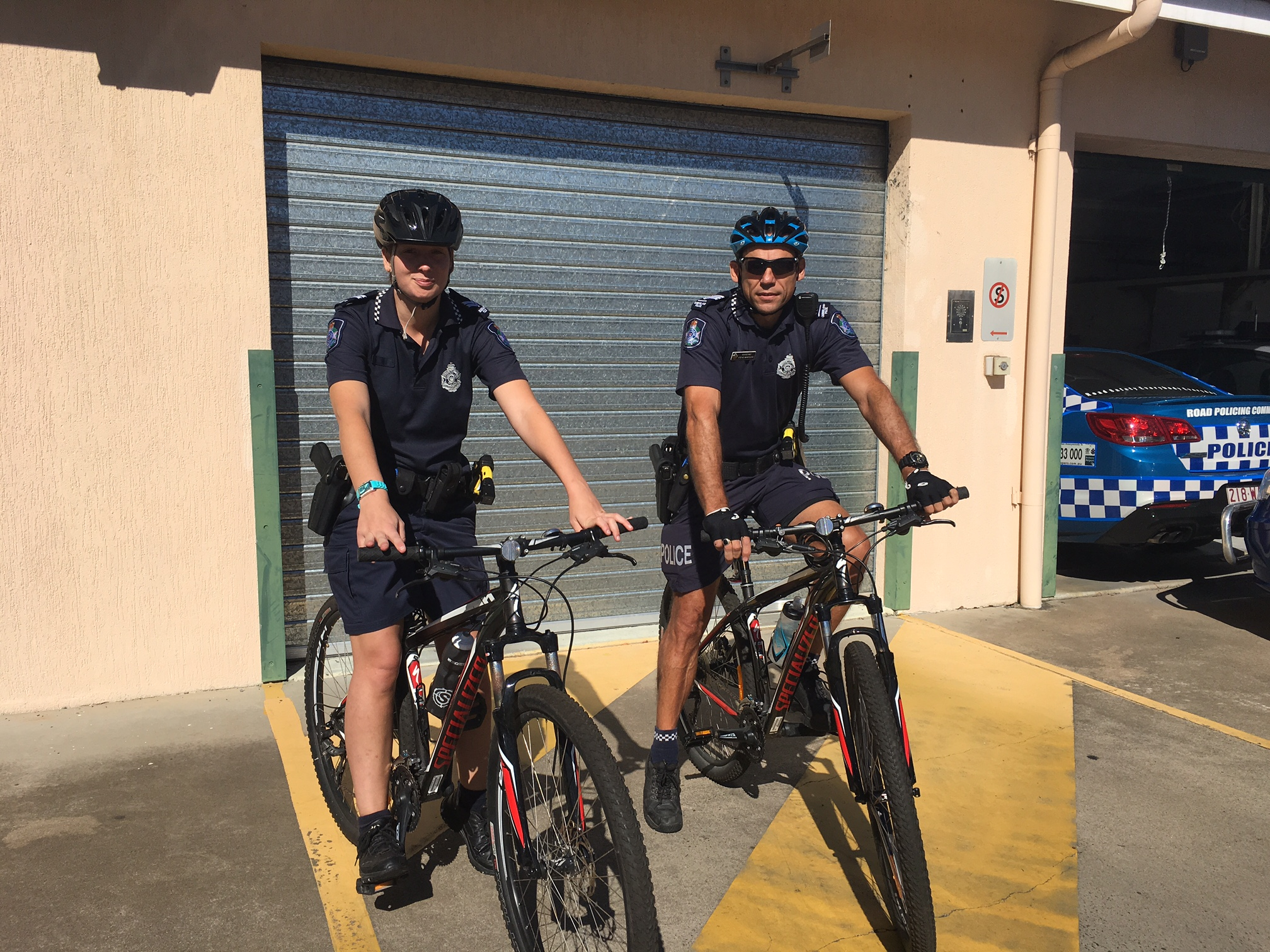 Bikes on patrol in Maryborough