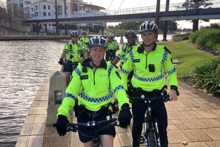 Perth bike police patrol city streets, prove popular with public for selfies