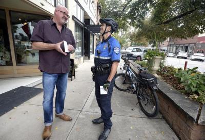 Bike patrol adds flexibility, community element to downtown Loveland