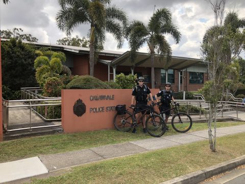 Calamvale Police get on their bikes!