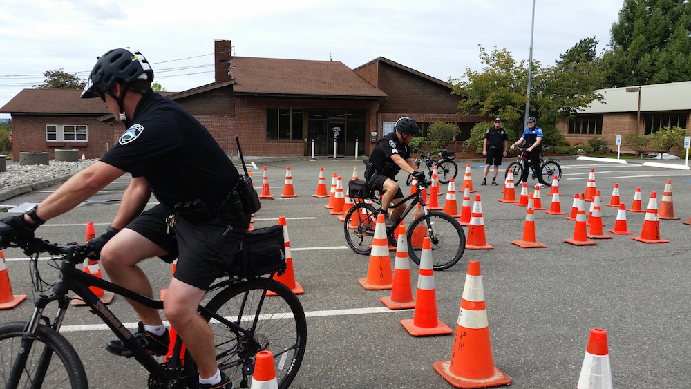 Milton officers train hard for bicycle patrols
