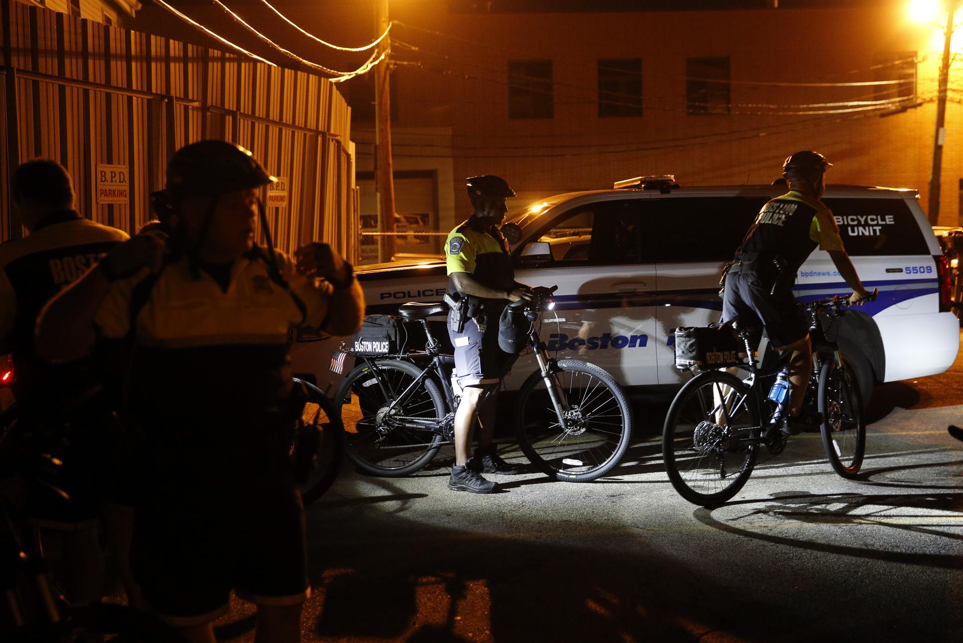 Boston police turn to bike patrols in embattled neighborhoods