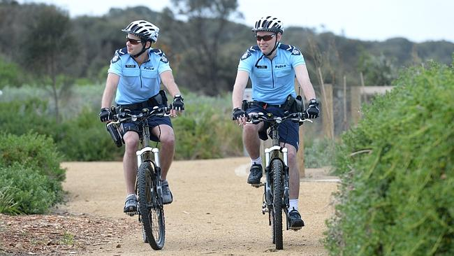 Bayside Police set up biking bobbies unit to catch cycling criminals on Beach Rd