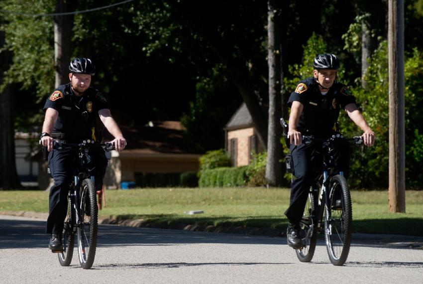 White Oak police officers ditch patrol cars for bicycles