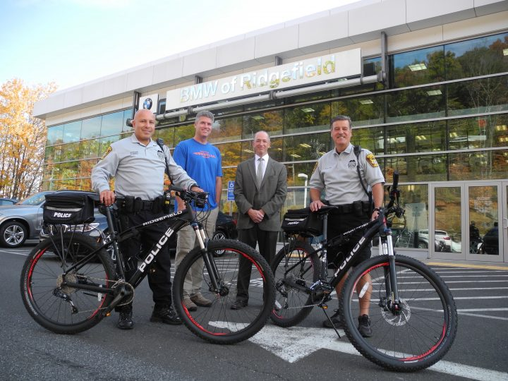 Police get bikes donated by BMW of Ridgefield