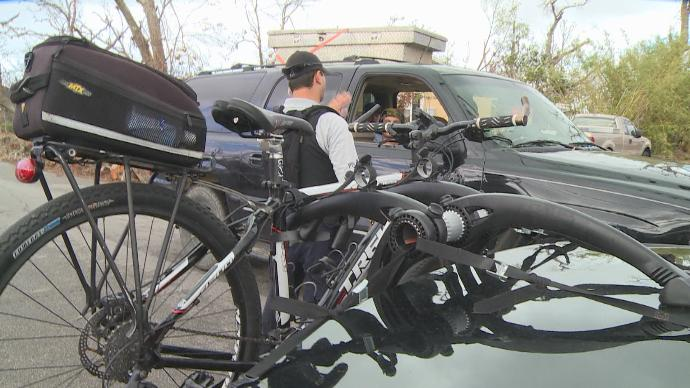 PCPD uses bikes to check on residents post Hurricane Michael