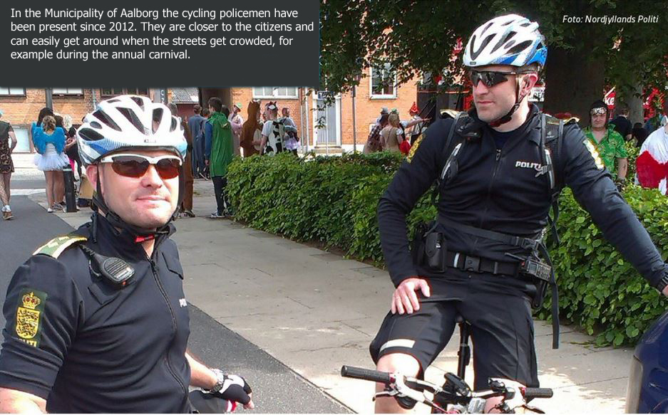 Cycling police officers are closer to the public and the concerns of citizens