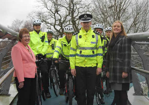Cops get on their bikes to keep community safe