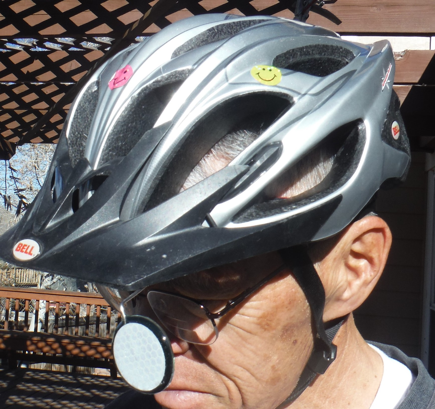 Tiger Eye Helmet-Mounted Bicycle Mirror, Part I